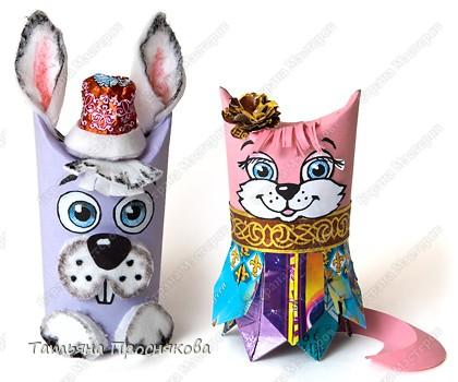 Мастер-класс, Аппликация, Моделирование, : Кошки, зайцы и карнавал животных Бумага, Диски ватные, Материал бросовый, Трубочки картонные, Фантики, Фольга Новый год,