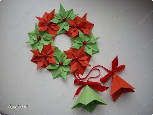 Своими руками из бумаги рождественский венок