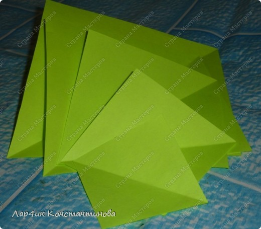 Мастер-класс, Поделка, изделие, Украшение Оригами, Оригами модульное, : С НАСТУПАЮЩИМ НОВЫМ ГОДОМ! МК ёлочки. Бумага Новый год, . Фото 2