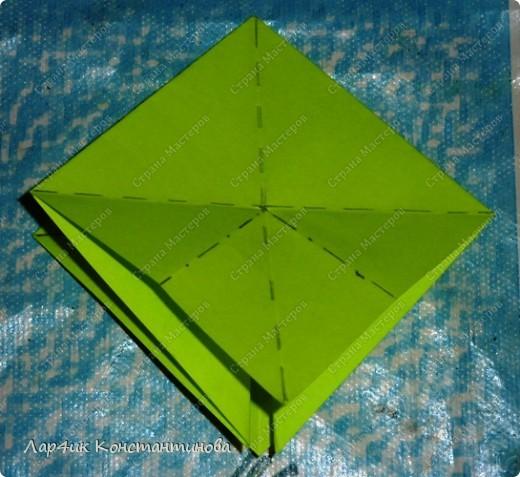 Мастер-класс, Поделка, изделие, Украшение Оригами, Оригами модульное, : С НАСТУПАЮЩИМ НОВЫМ ГОДОМ! МК ёлочки. Бумага Новый год, . Фото 9