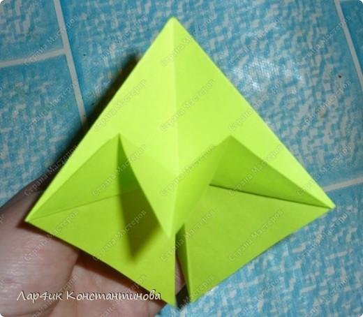 Мастер-класс, Поделка, изделие, Украшение Оригами, Оригами модульное, : С НАСТУПАЮЩИМ НОВЫМ ГОДОМ! МК ёлочки. Бумага Новый год, . Фото 10