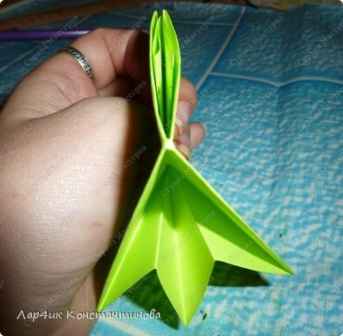 Мастер-класс, Поделка, изделие, Украшение Оригами, Оригами модульное, : С НАСТУПАЮЩИМ НОВЫМ ГОДОМ! МК ёлочки. Бумага Новый год, . Фото 12