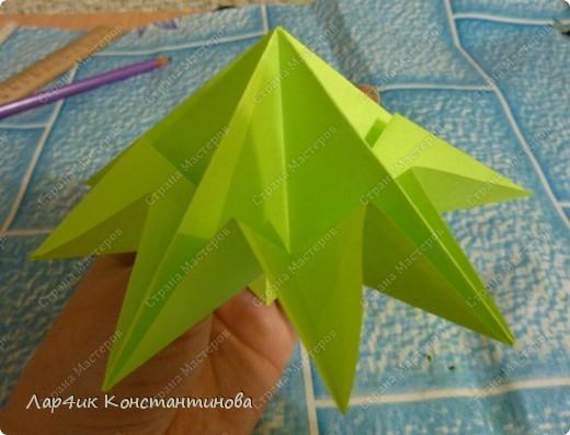 Мастер-класс, Поделка, изделие, Украшение Оригами, Оригами модульное, : С НАСТУПАЮЩИМ НОВЫМ ГОДОМ! МК ёлочки. Бумага Новый год, . Фото 13