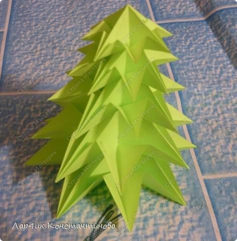 Мастер-класс, Поделка, изделие, Украшение Оригами, Оригами модульное, : С НАСТУПАЮЩИМ НОВЫМ ГОДОМ! МК ёлочки. Бумага Новый год, . Фото 18