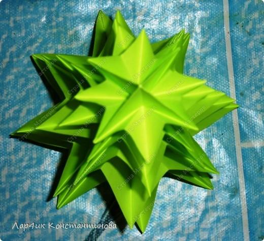 Мастер-класс, Поделка, изделие, Украшение Оригами, Оригами модульное, : С НАСТУПАЮЩИМ НОВЫМ ГОДОМ! МК ёлочки. Бумага Новый год, . Фото 17