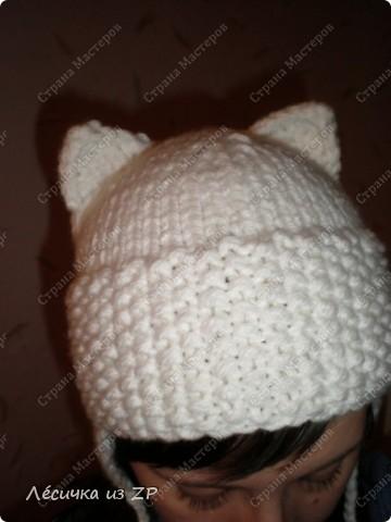 Шапка для малыша кот.