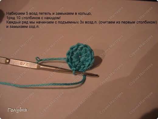 Гардероб Вязание крючком: Вяжем вместе: Бирюзовая шапочка крючком  Пряжа. Фото 2