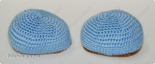 Размером получился поменьше, чем первый, без шляпы 24 см, со шляпой - 29 см.. Фото 14