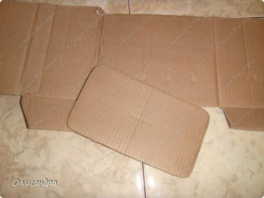 Декор предметов, Мастер-класс: Коробочка для бумаг.  Мастер-класс...Часть 1... Клей, Коробки, Материал бросовый, Пуговицы,  Скотч, Шпагат. Фото 5