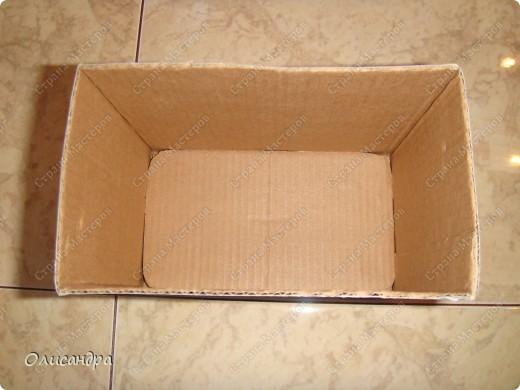 Декор предметов, Мастер-класс: Коробочка для бумаг.  Мастер-класс...Часть 1... Клей, Коробки, Материал бросовый, Пуговицы,  Скотч, Шпагат. Фото 6