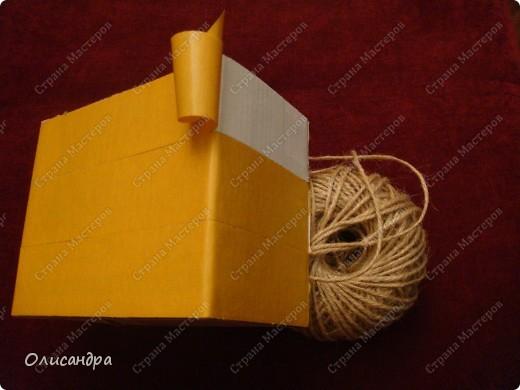 Декор предметов, Мастер-класс: Коробочка для бумаг.  Мастер-класс...Часть 1... Клей, Коробки, Материал бросовый, Пуговицы,  Скотч, Шпагат. Фото 10