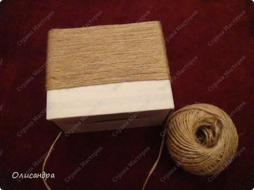 Декор предметов, Мастер-класс: Коробочка для бумаг.  Мастер-класс...Часть 1... Клей, Коробки, Материал бросовый, Пуговицы,  Скотч, Шпагат. Фото 12