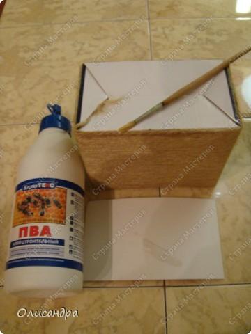 Декор предметов, Мастер-класс: Коробочка для бумаг.  Мастер-класс...Часть 1... Клей, Коробки, Материал бросовый, Пуговицы,  Скотч, Шпагат. Фото 15