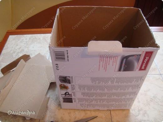 Декор предметов, Мастер-класс: Была бы коробочка... Мастер-класс.  Часть 1 Бумага, Картон, Клей, Коробки, Материал бросовый, Пряжа,  Пуговицы, Скотч. Фото 4