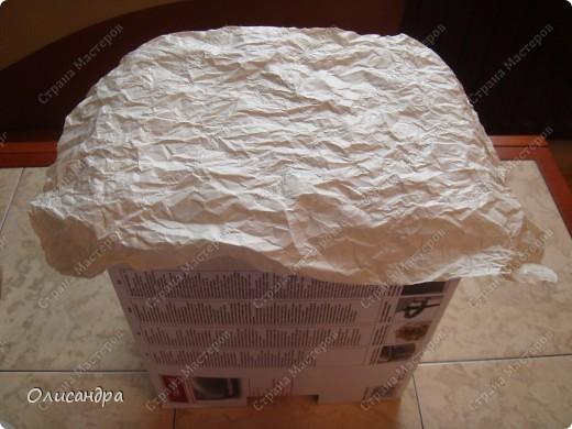 Декор предметов, Мастер-класс: Была бы коробочка... Мастер-класс.  Часть 1 Бумага, Картон, Клей, Коробки, Материал бросовый, Пряжа,  Пуговицы, Скотч. Фото 13