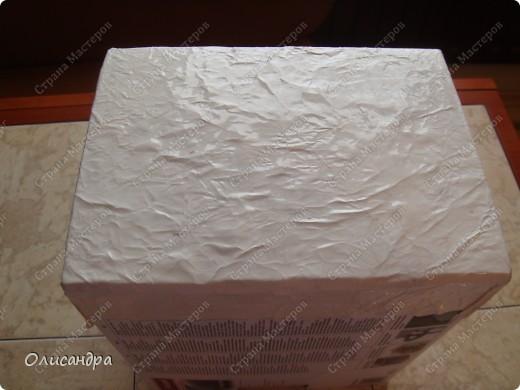 Декор предметов, Мастер-класс: Была бы коробочка... Мастер-класс.  Часть 1 Бумага, Картон, Клей, Коробки, Материал бросовый, Пряжа,  Пуговицы, Скотч. Фото 15