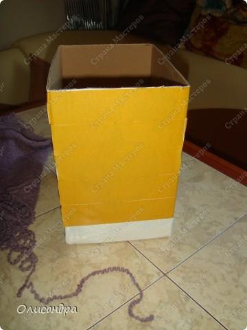 Декор предметов, Мастер-класс: Была бы коробочка... Мастер-класс.  Часть 1 Бумага, Картон, Клей, Коробки, Материал бросовый, Пряжа,  Пуговицы, Скотч. Фото 18