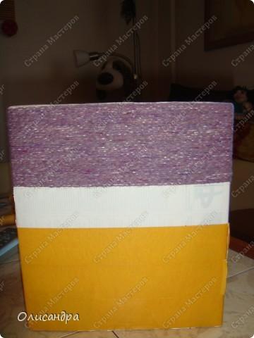 Декор предметов, Мастер-класс: Была бы коробочка... Мастер-класс.  Часть 1 Бумага, Картон, Клей, Коробки, Материал бросовый, Пряжа,  Пуговицы, Скотч. Фото 20