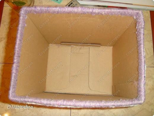 Декор предметов, Мастер-класс: Была бы коробочка...Мастер-класс.  Часть 2 Бумага, Картон, Клей, Коробки, Материал бросовый, Пряжа,  Пуговицы, Скотч. Фото 12