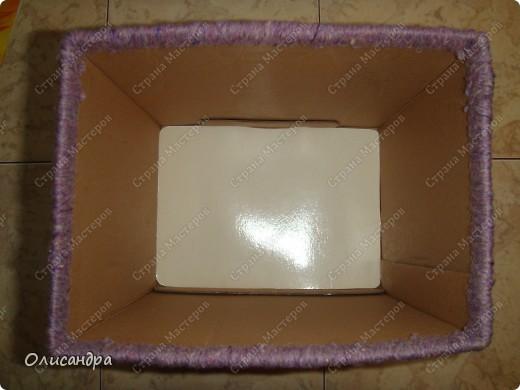 Декор предметов, Мастер-класс: Была бы коробочка...Мастер-класс.  Часть 2 Бумага, Картон, Клей, Коробки, Материал бросовый, Пряжа,  Пуговицы, Скотч. Фото 13