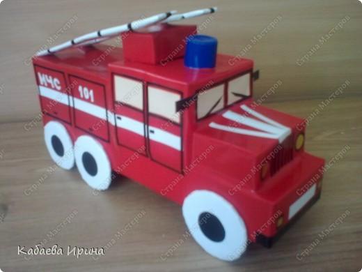 Как сделать поделку пожарную машину своими руками