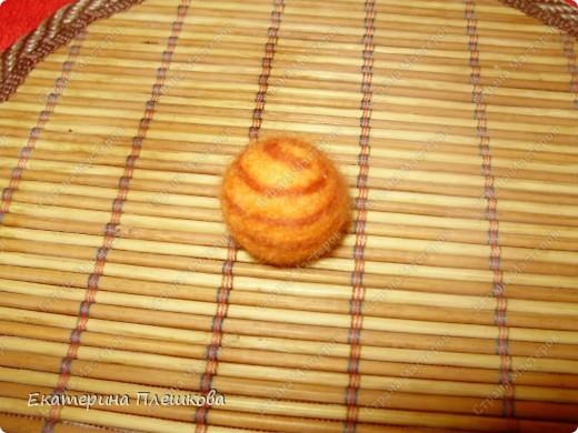 Мастер-класс, Фильдцевание, : МК по валянию. Спиралька на бусине. Шерсть . Фото 9