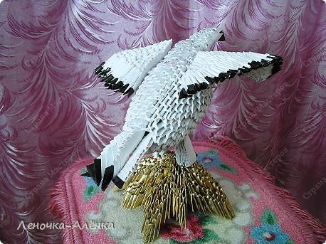 Поделка, изделие Оригами модульное: Белый орел. Фото 3