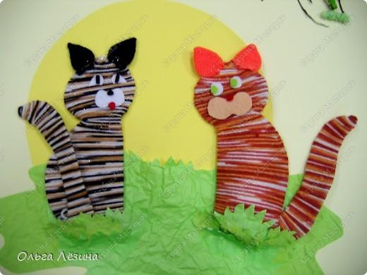 Поделки детей на тему кошки