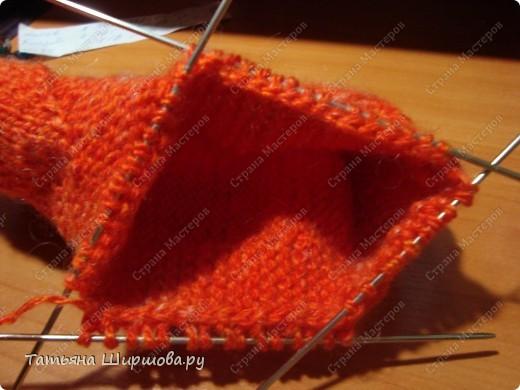 Мастер-класс Вязание спицами: Следки-тапочки... Шерсть День рождения. Фото 17