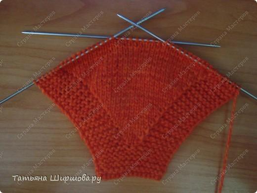 Мастер-класс Вязание спицами: Следки-тапочки... Шерсть День рождения. Фото 6