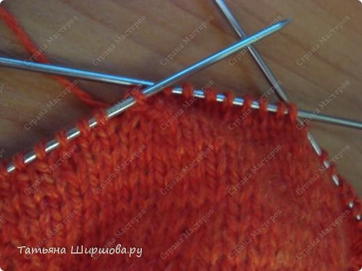 Мастер-класс Вязание спицами: Следки-тапочки... Шерсть День рождения. Фото 7