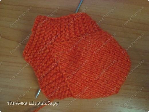 Мастер-класс Вязание спицами: Следки-тапочки... Шерсть День рождения. Фото 10