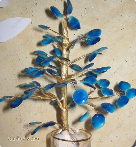 Поделка, изделие: Дерево из КЛЕЯ ПВА Клей, Проволока, Скотч. Фото 2
