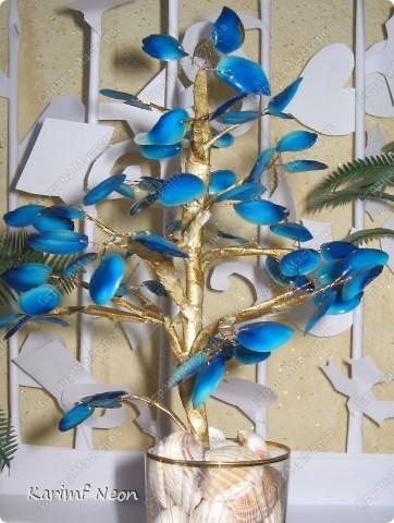 Поделка, изделие: Дерево из КЛЕЯ ПВА Клей, Проволока, Скотч. Фото 3