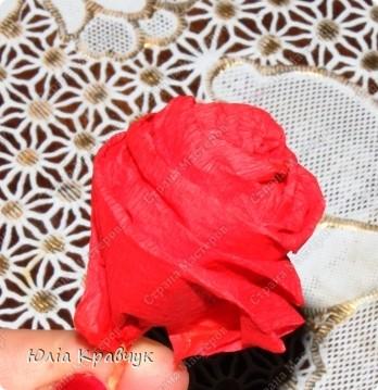 Мастер-класс,  Аппликация, : Шар из роз. МК Бумага газетная, Бумага гофрированная, Клей . Фото 10