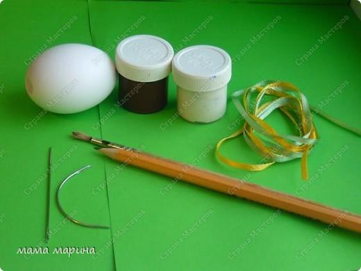Декор предметов, Мастер-класс Вышивка: топиарий на яйце ,как я его вышиваю Ленты Пасха. Фото 4
