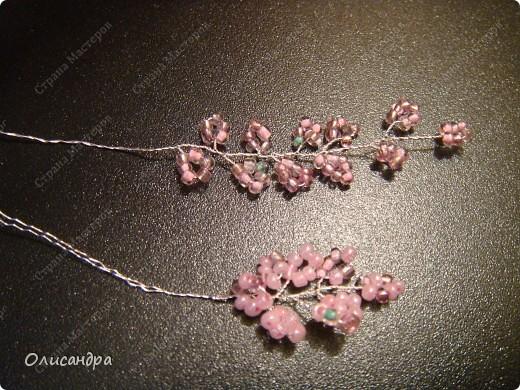 Master Class, Craft, gyöngyfűzés termék: Silver Sakura ...  MC ...  Gyöngyök, szálak, Wire.  Fotó 16