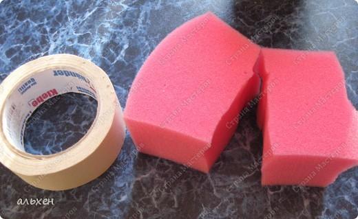 Мастер-класс, Материалы и инструменты,  : для тех кто не любит мыть кисть (большую) и экономит ёмкости для краски Поролон . Фото 1