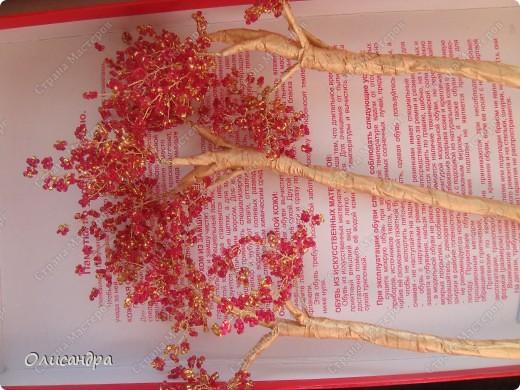 Мастер-класс, Поделка, изделие,  Бисероплетение, : Рубиновое дерево...МК... Бисер, Нитки, Проволока . Фото 28
