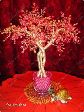 Мастер-класс, Поделка, изделие,  Бисероплетение, : Рубиновое дерево...МК... Бисер, Нитки, Проволока . Фото 37