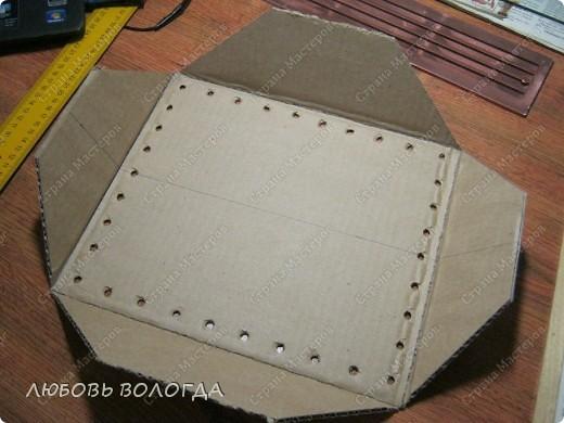 Мастер-класс Плетение: Коробка к выступающим дном  Бумага газетная. Фото 4