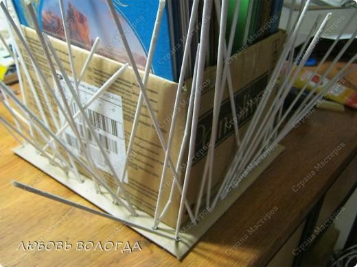 Мастер-класс Плетение: Коробка к выступающим дном  Бумага газетная. Фото 11
