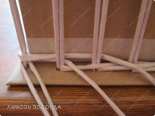 Мастер-класс Плетение: Коробка к выступающим дном 2 серия)))  Бумага газетная. Фото 3