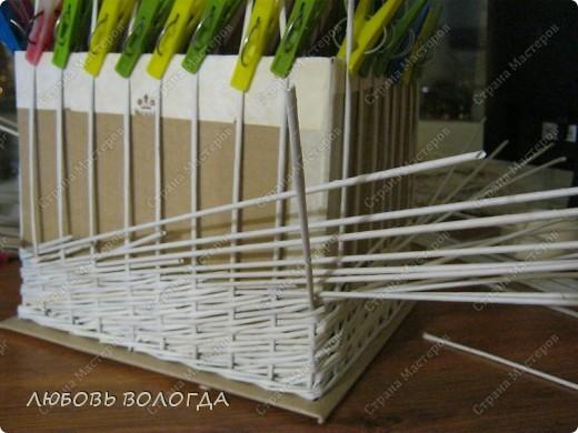 Мастер-класс Плетение: Коробка к выступающим дном 2 серия)))  Бумага газетная. Фото 11