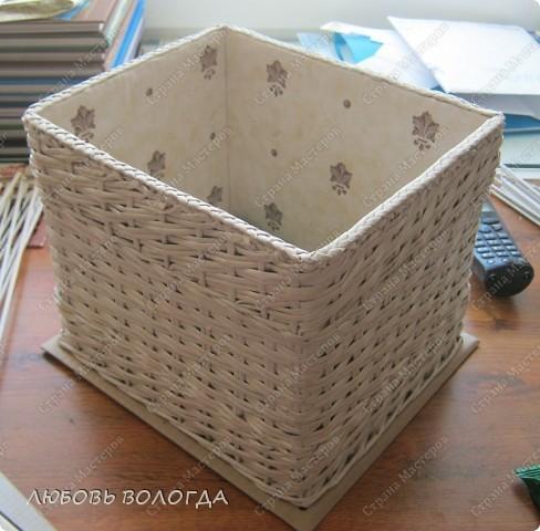 Мастер-класс,  Плетение, : Коробка к выступающим дном 2 серия)))  Бумага газетная . Фото 1