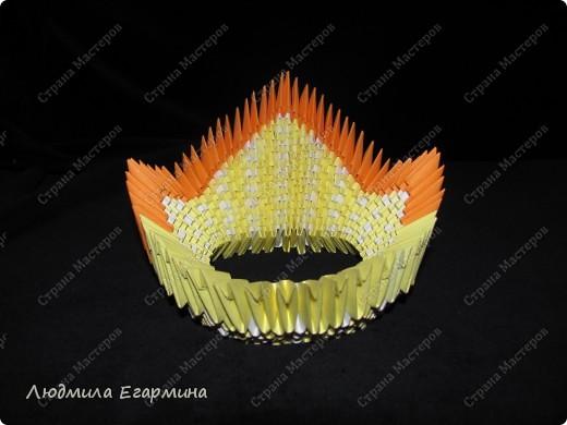 Мастер-класс,  Оригами модульное, : Пасхальная курочка Ряба. Бумага Пасха, . Фото 12