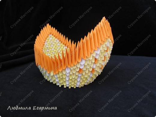 Мастер-класс,  Оригами модульное, : Пасхальная курочка Ряба. Бумага Пасха, . Фото 14