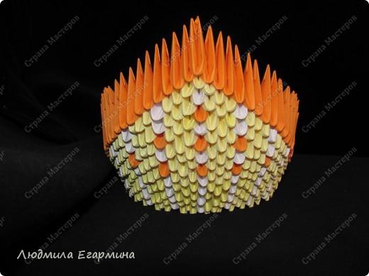 Мастер-класс,  Оригами модульное, : Пасхальная курочка Ряба. Бумага Пасха, . Фото 13