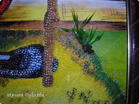 Картина, панно Аппликация: Зёрнышко к зёрнышку. Фотогалерея работ. Крупа, Материал природный. Фото 12