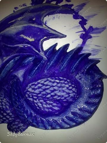 Мастер-класс, Поделка, изделие,  Лепка, Роспись, : Дракон из солёного теста. Часть 2. Краска, Тесто соленое . Фото 10